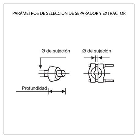 Parámetros selección separador y extractor