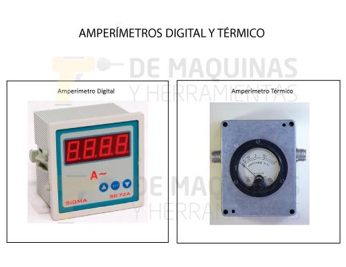 Amperímetro digital-térmico