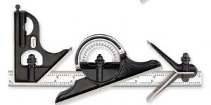 Deinbe Transportador de Acero Buscador de /ángulo de la Herramienta Regla Medida para maquinista dise/ñador 180/°