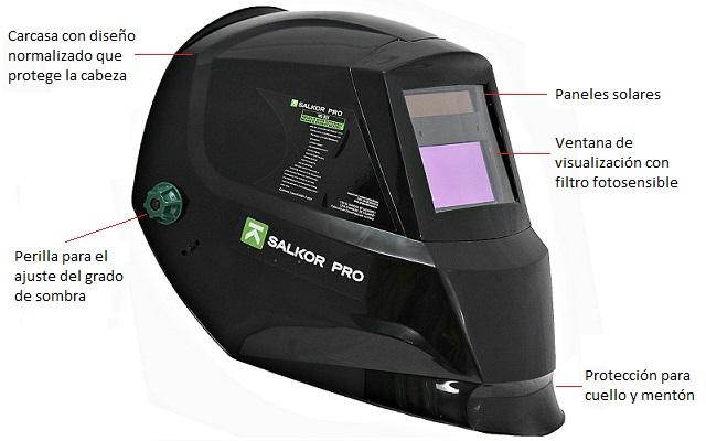 SALKOR - Máscara fotosensible - componentes