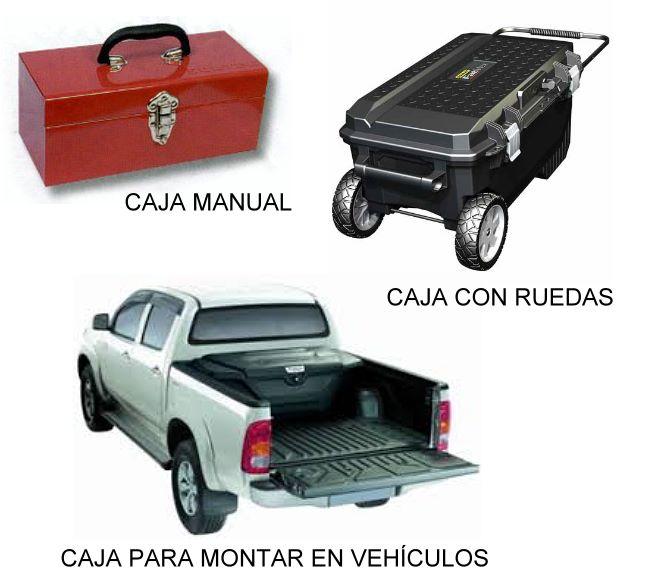 Caja de Herramientas Manual - Caja con Ruedas - Caja para Vehículos