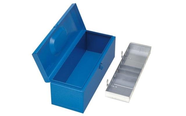 Caja de herramientas con bandeja extraíble