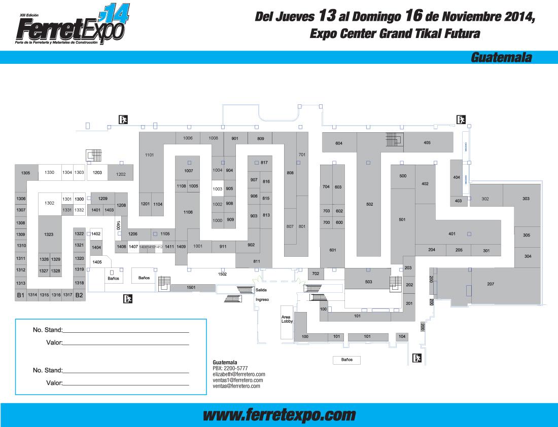 Plano Ferretexpo 2014 Guatemala