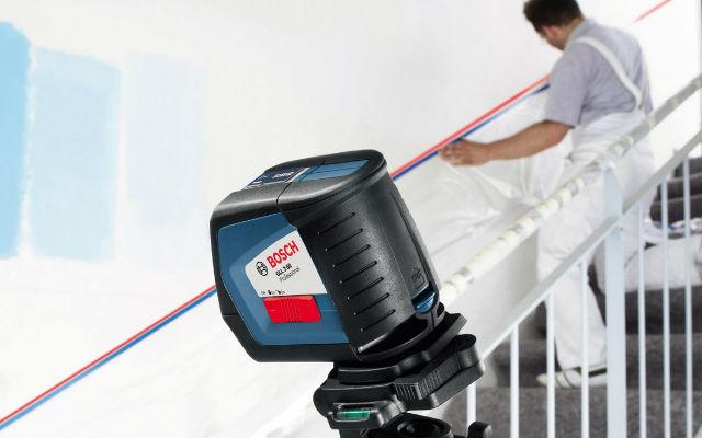 Nivelas baranda escalera con Nivel Laser de Linea