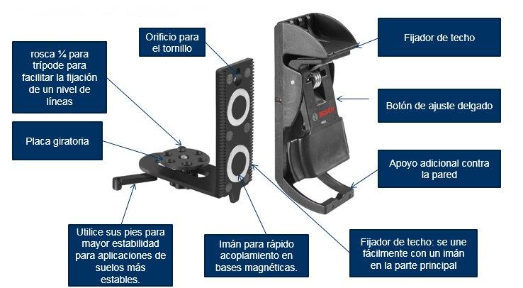 Nivel Laser - Soporte de fijacion Bosch