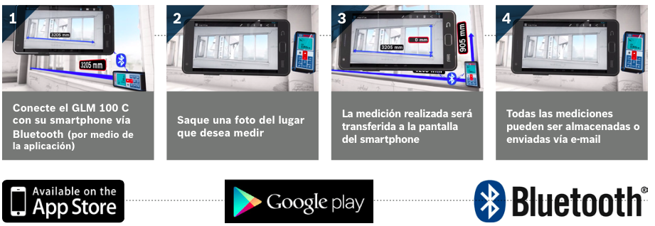 Conectar GLM 100 C Bosch con Smartphone