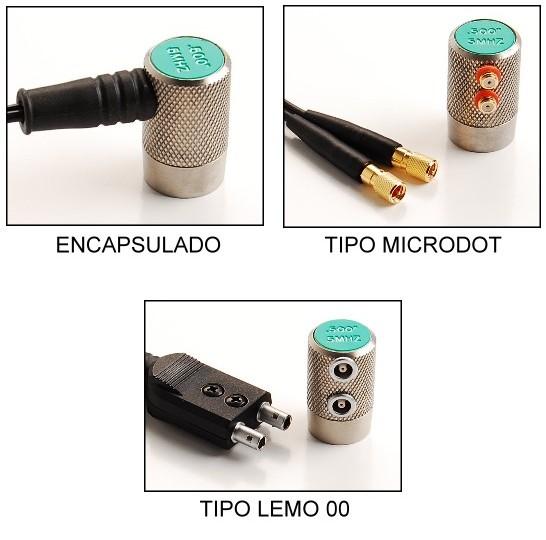 Medidor de Espesor por Ultrasonido - Tipos de Conexion del Transductor