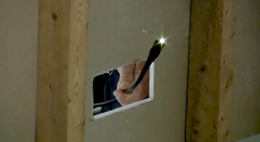 Cámara de Inspección - Boroscópio - Aplicación en drywall