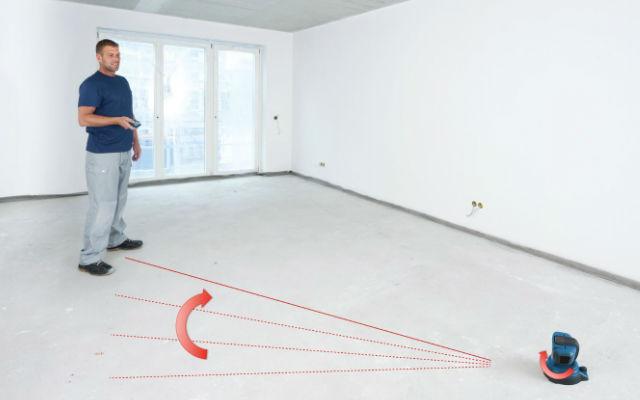 Comprobación del nivel de la superficie a medir