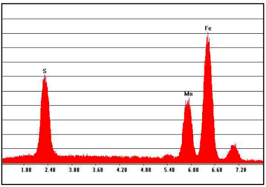 Figura 10 - Espectro obtenido en análisis EDS efectuado sobre inclusión no metálica