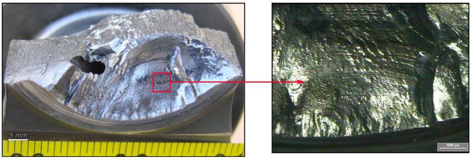 Figura 3 - Presencia de marcas de playa en cigüeñal