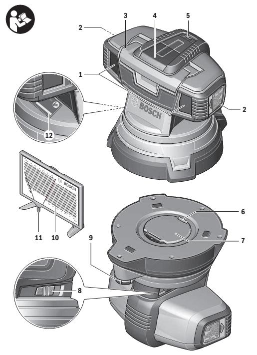 partes del nivel laser de superficies