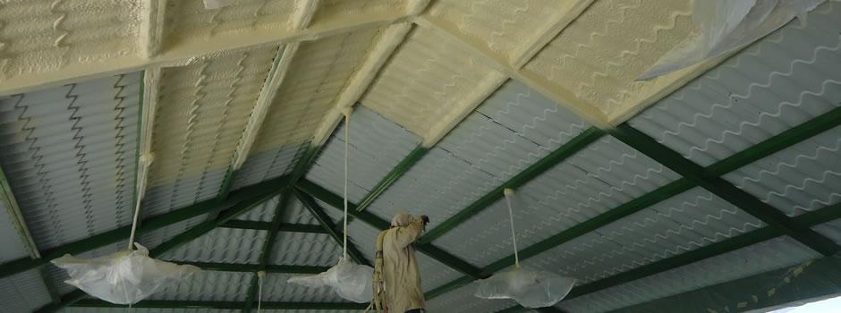 Uso de la Espuma de Poliuretano expandida para la protección de techo