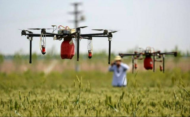 Dron aplicado en la agricultura