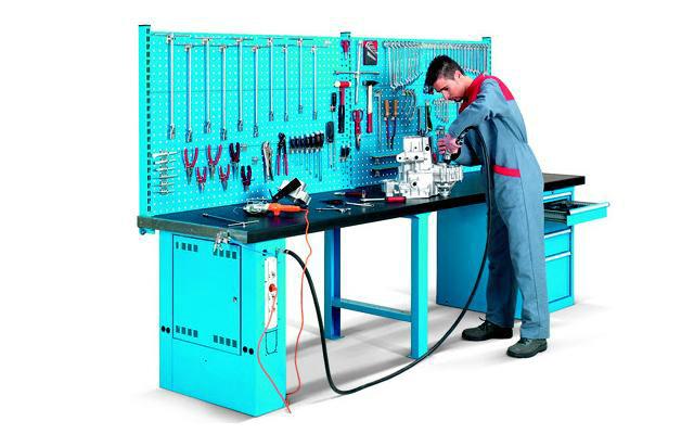 Mesa de trabajo herramientas de m quinas y herramientas - Mesa de trabajo metalica ...