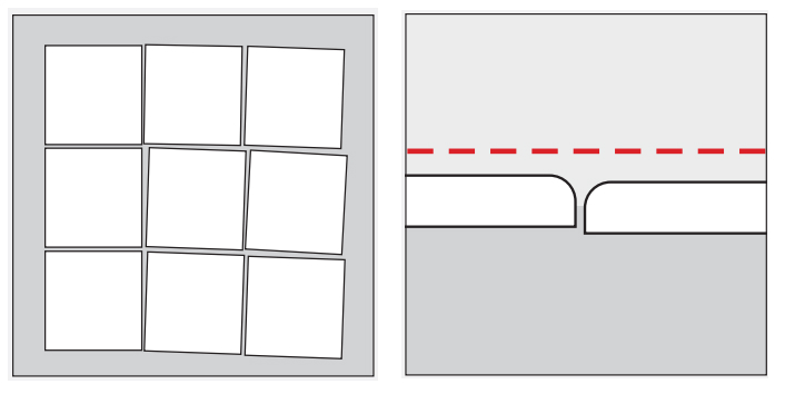 Figura 1 - Ejemplos de mala colocación de revestimientos
