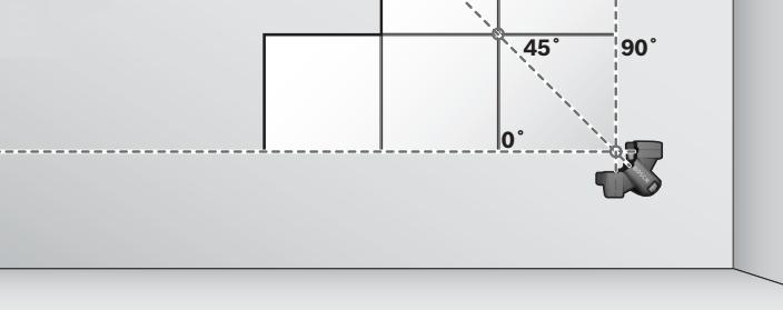 Figura 5 - Colocación de cerámicos en línea recta sobre paredes