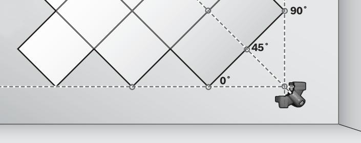 Figura 6 - Colocación de cerámica en diagonal sobre paredes