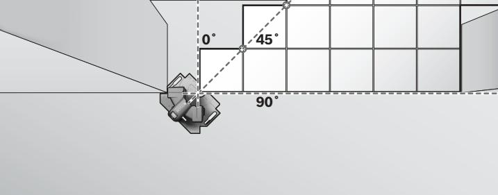 Figura 8 - Colocación de un piso de porcelanato partiendo desde una esquina