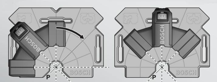 Figura 9 - Trazado de ángulo de nivel láser de escuadra