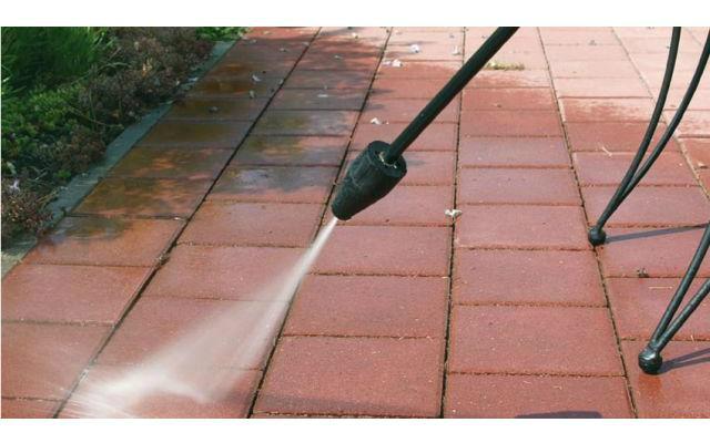Hidrolavadora Einhell - Limpieza de caminos de losas o concreto