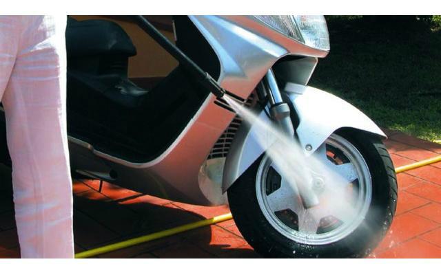 Hidrolavadora - Lavado de motocicletas