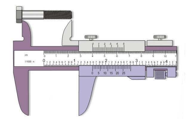 Medición de longitud de un perno