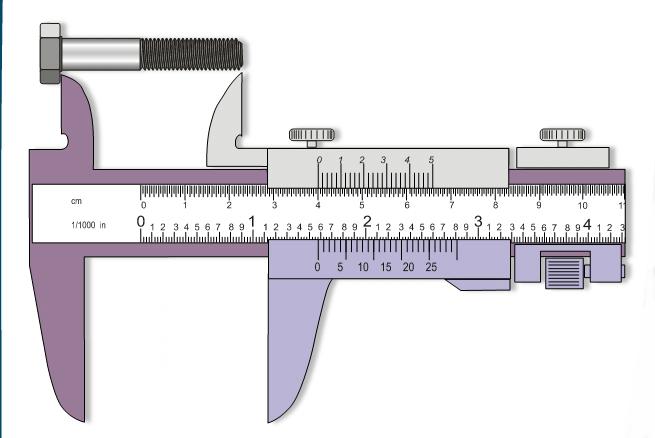 Medición de longitud de perno