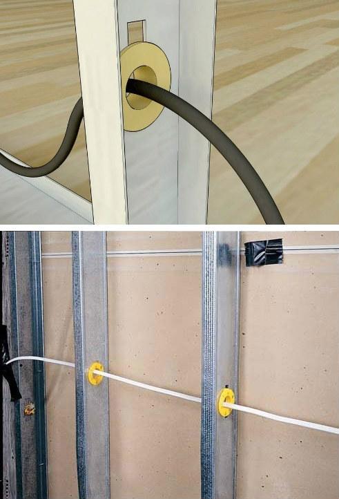 Colocación de montantes - Construcción en seco