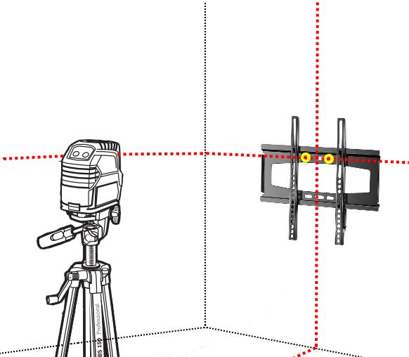 Colocación de soporte para TV - Nivelación
