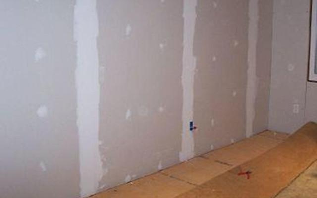 Drywall en preparación (Foto cortesía: Commons Wikimedia)