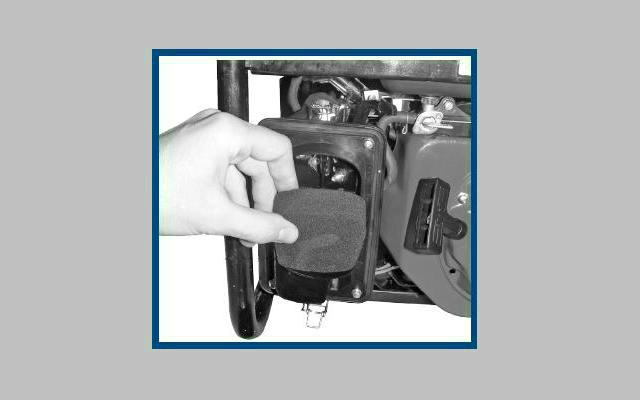 Mantenimiento de generador eléctrico - Cambio del filtro de aire