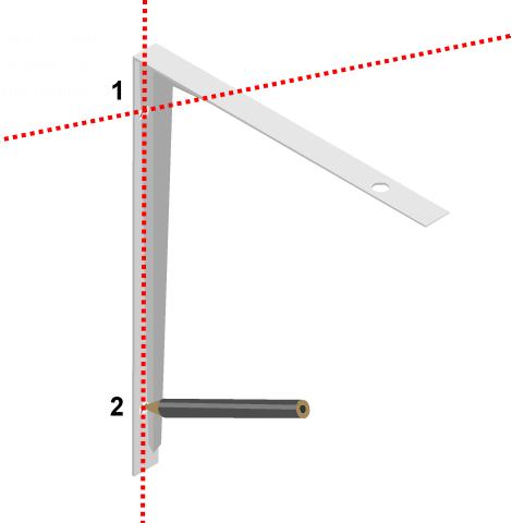 Nivelación de ménsulas - Uso del nivel láser