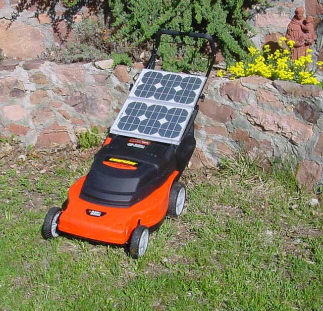 Máquina de cortar césped - Energía solar