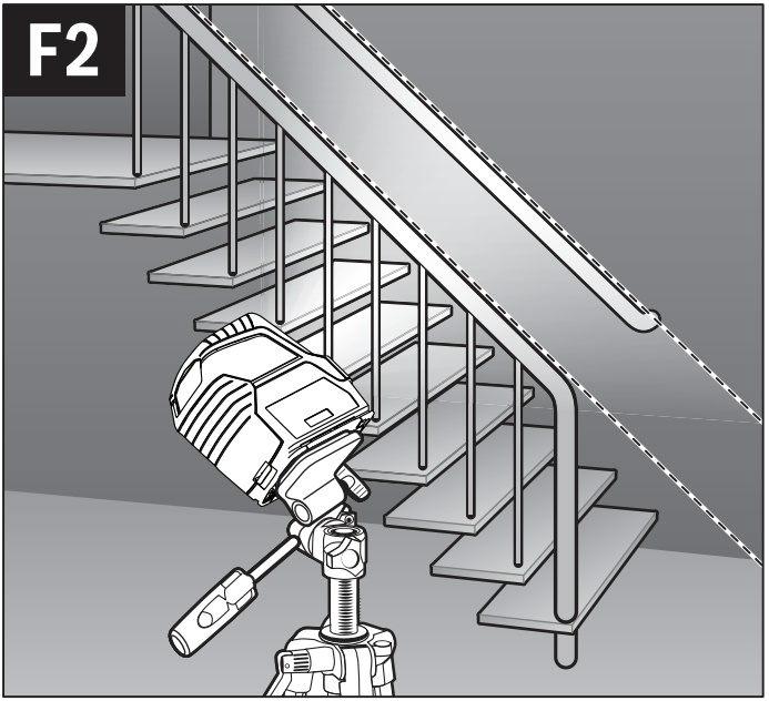 Nivelación de escaleras con nivel láser lineas verdes