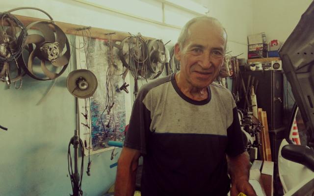 Ramón Venancio en el taller