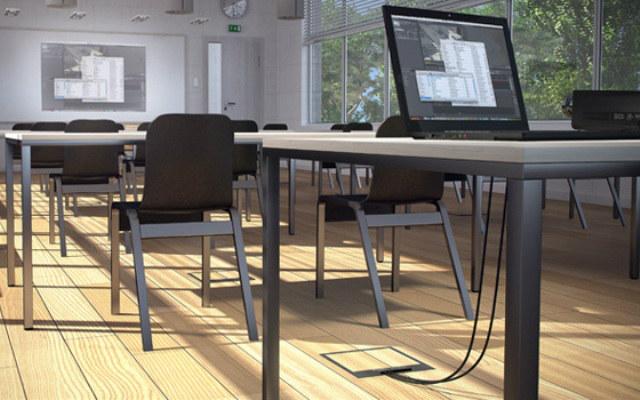 Hager - Cajas de conexión aplicadas en sala de formación