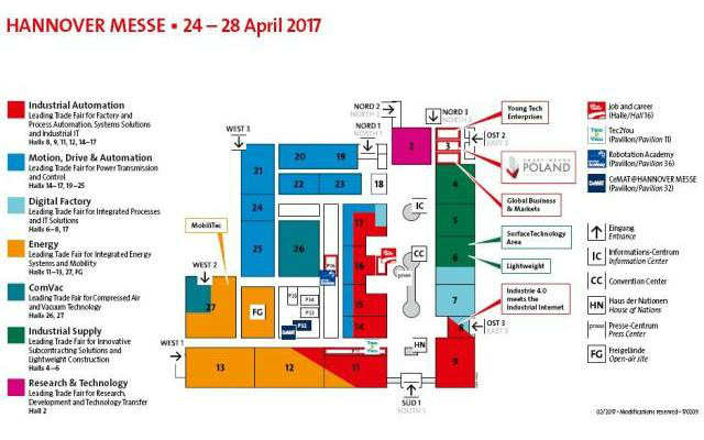 Hannover Messe 2017 Alemania - Plano