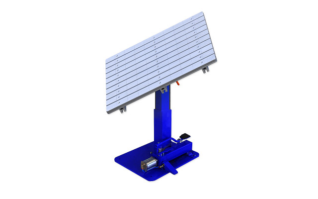 Mesa ranurada rotativa inclinable altura regulable