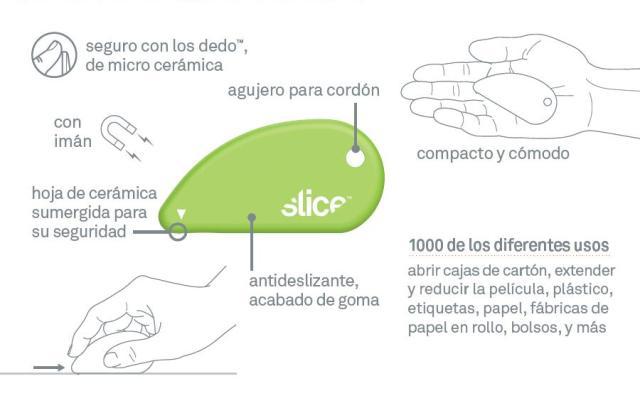 Cutter de seguridad con hoja de cerámica (SLICE-00200)