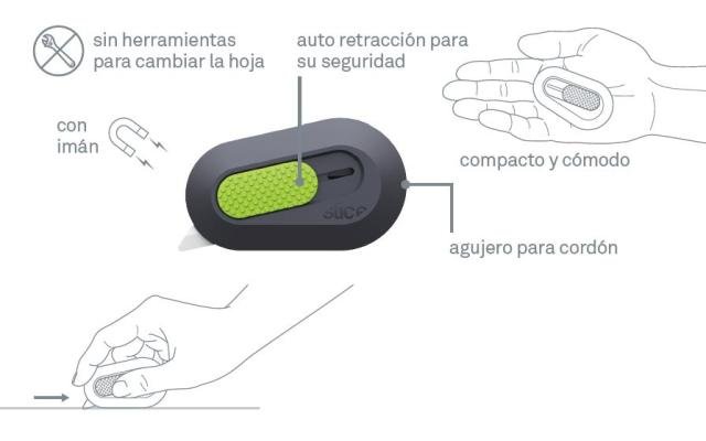 Mini cutter de Seguridad Auto-Retráctil (SLICE-10514)
