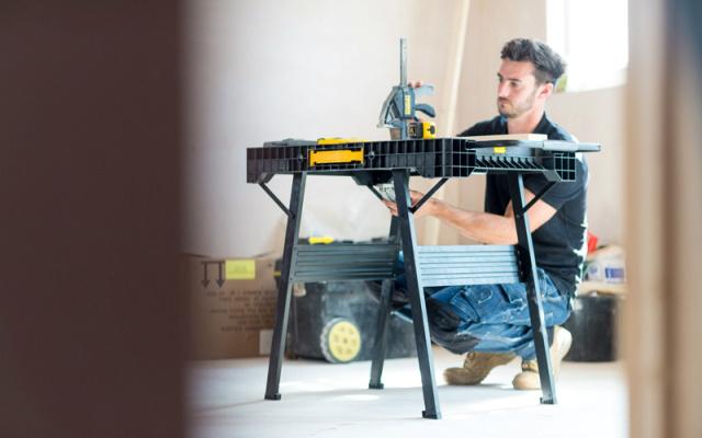 Nueva mesa de trabajo stanley de m quinas y herramientas for Mesa plegable trabajo