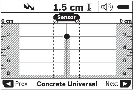Detección de cables que portan corriente - escáner de pared