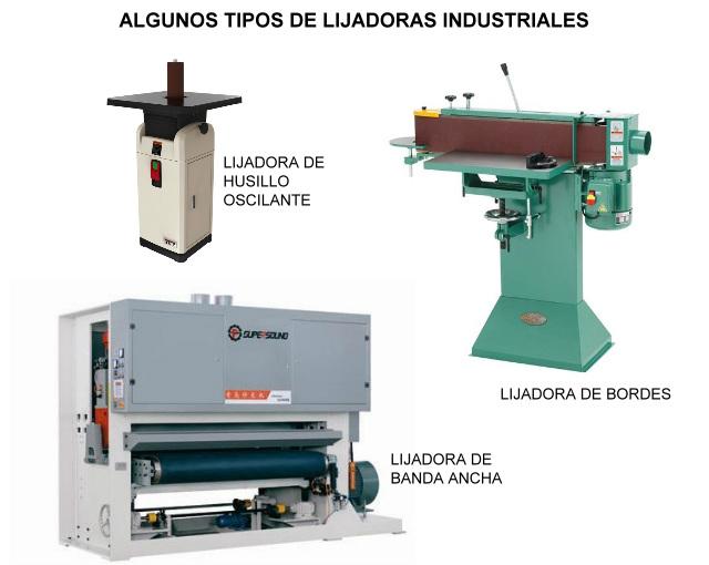 Tipos de lijadoras industriales