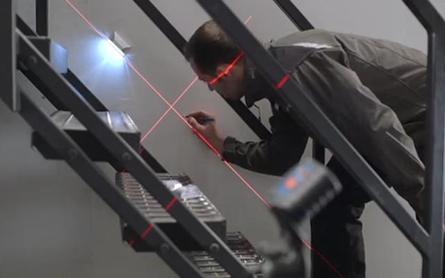 Portabilidad - nivel láser para grandes obras