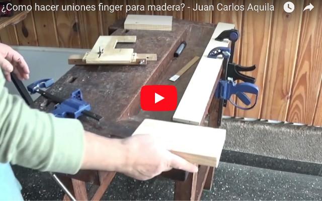 Uniones finger para madera