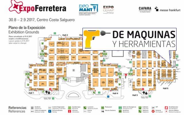DeMáquinas en ExpoFerretera 2017 Buenos Aires - Plano
