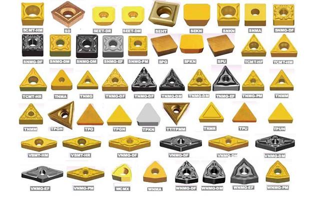 Diagrama de formas y códigos de letra - Nomenclatura de discos de corte