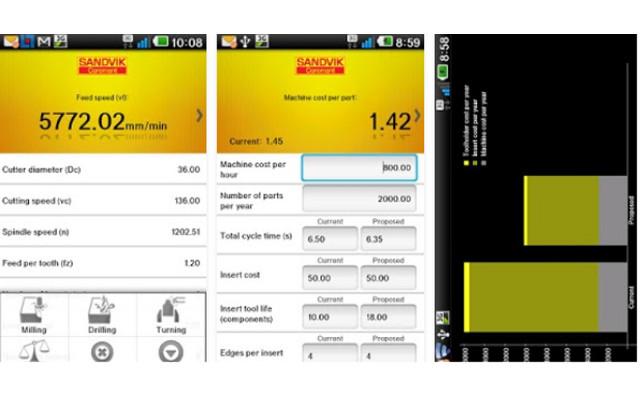 Sandvik - App de herramientas para mecanizado