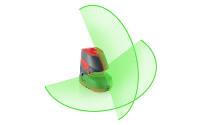 Esquema nivel láser líneas verdes